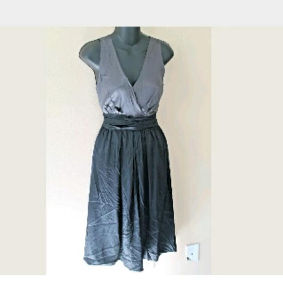 627a6040ee1f Dkny Dresses | Final Sale Gray Black Empire Waist Dress | Poshmark
